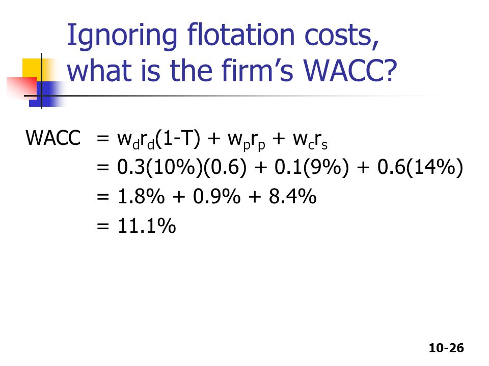 Ignoring flotation costs, what is the firm's WACC