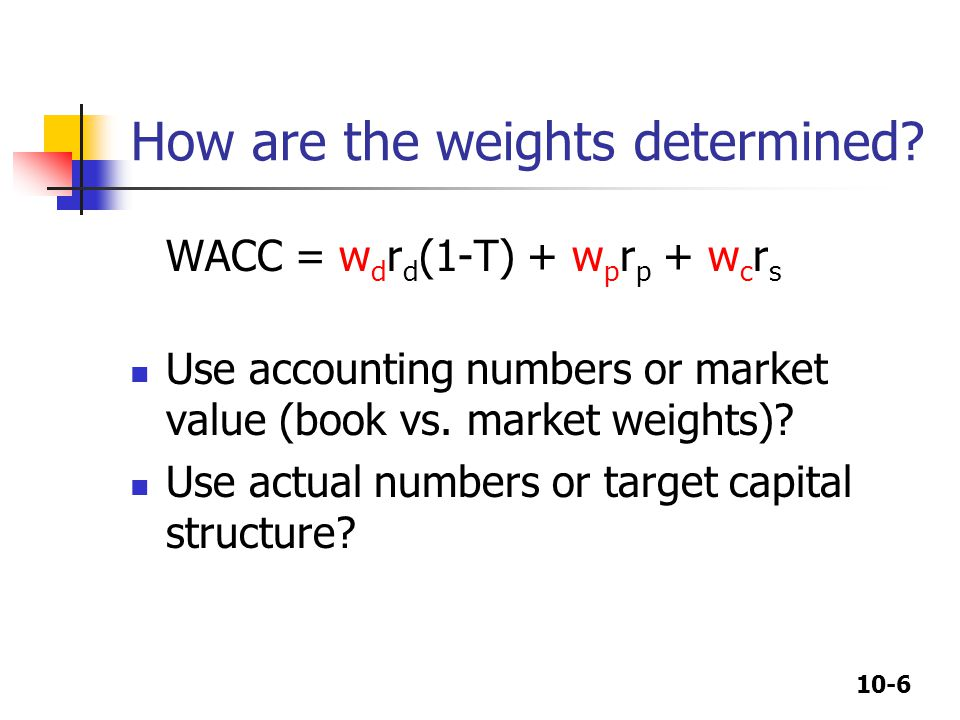 How are the weights determined