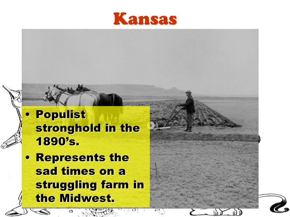 Kansas Populist stronghold in the 1890's.