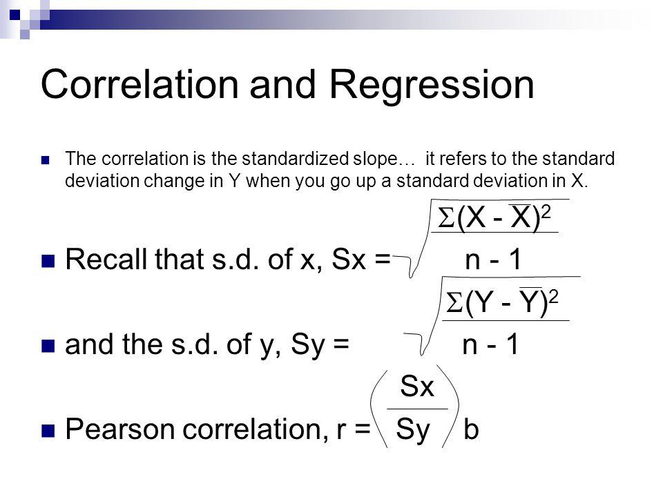 Correlation and Regression