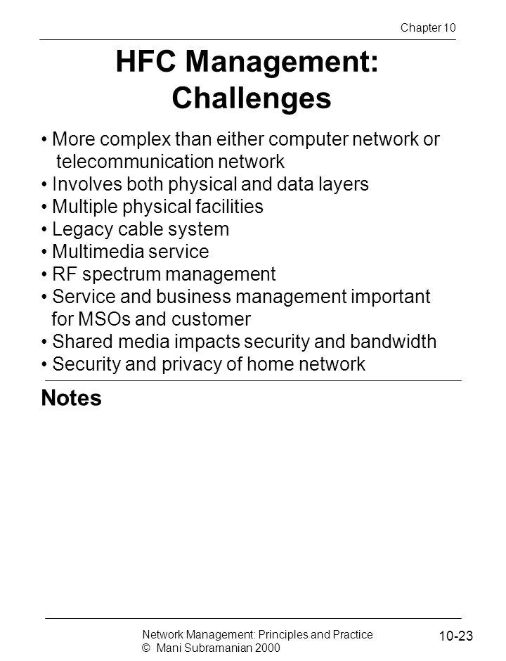 HFC Management: Challenges