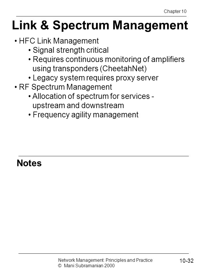 Link & Spectrum Management