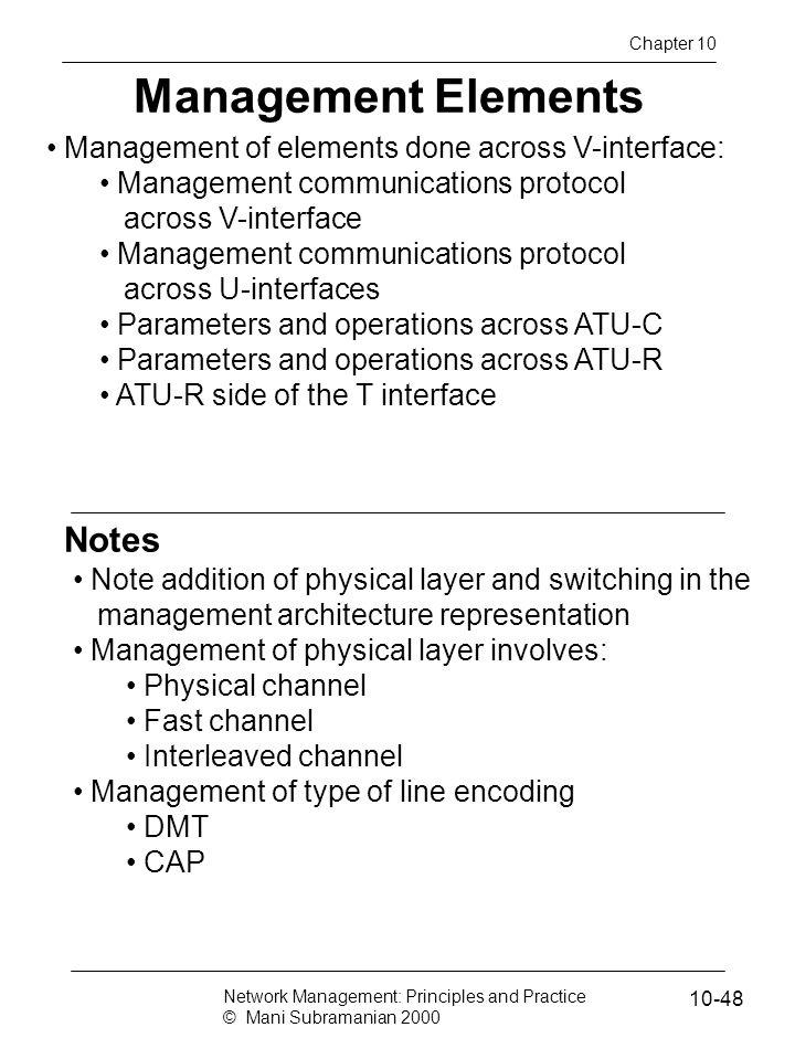 Management Elements Notes