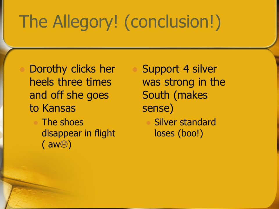 The Allegory! (conclusion!)
