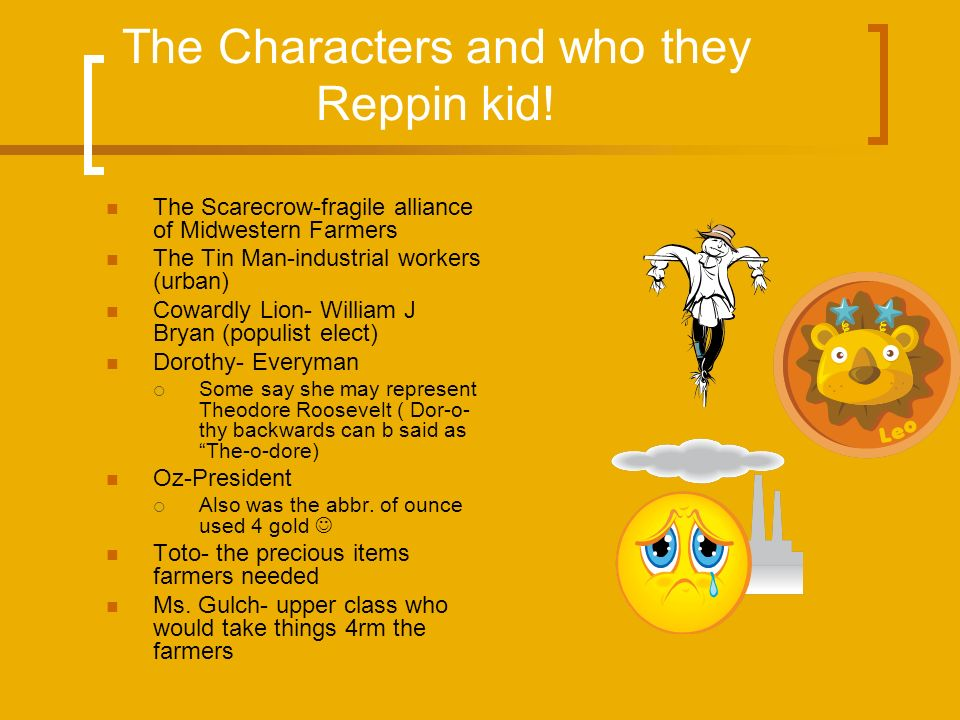 The Characters and who they Reppin kid!