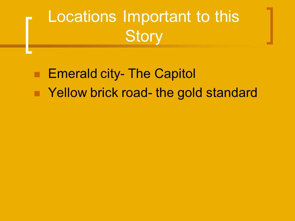 Locations Important to this Story