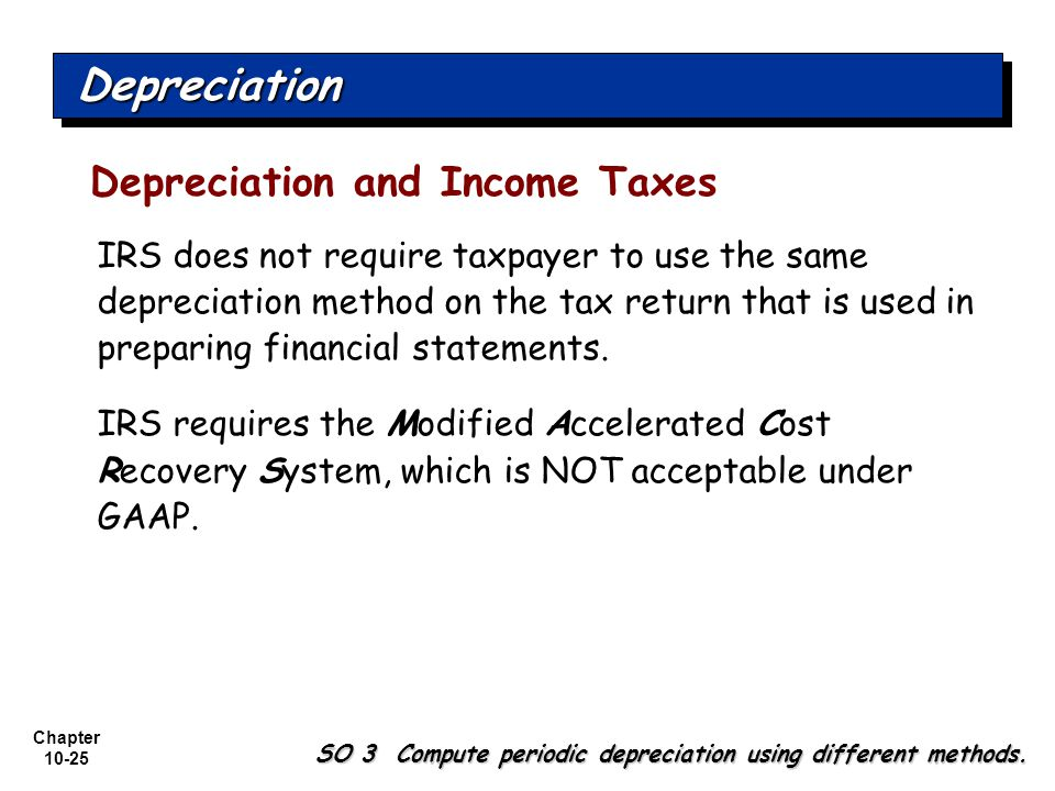 Depreciation Depreciation and Income Taxes