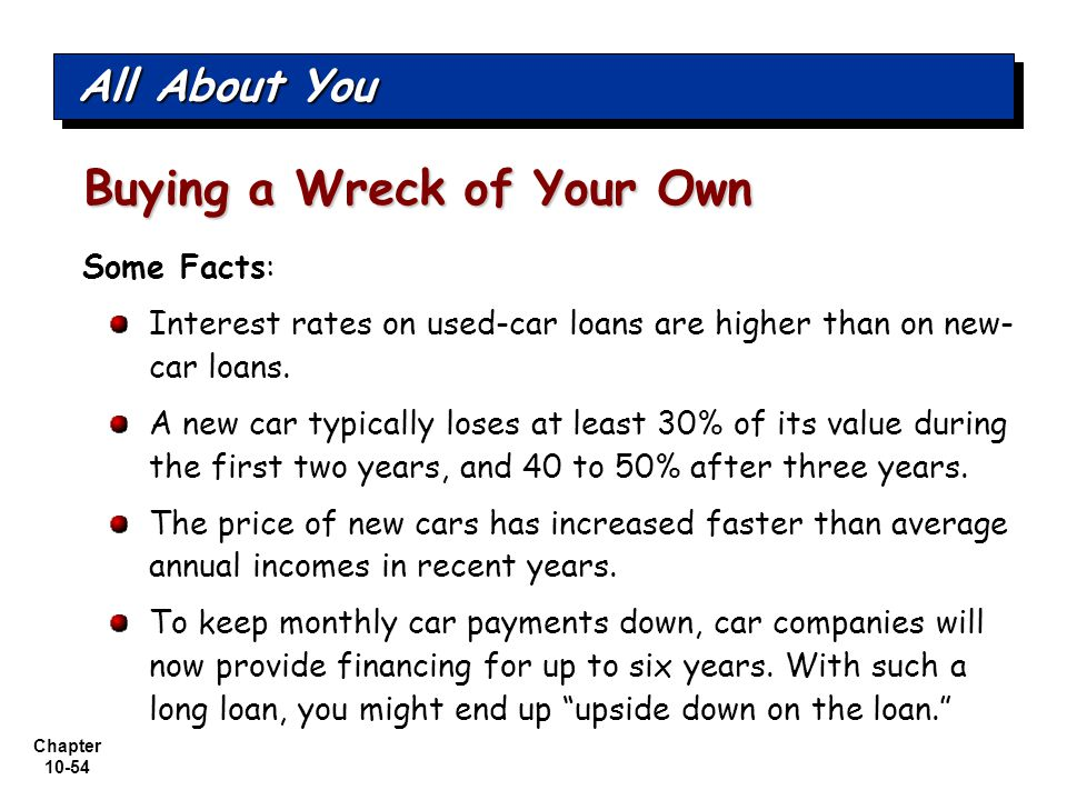 Buying a Wreck of Your Own
