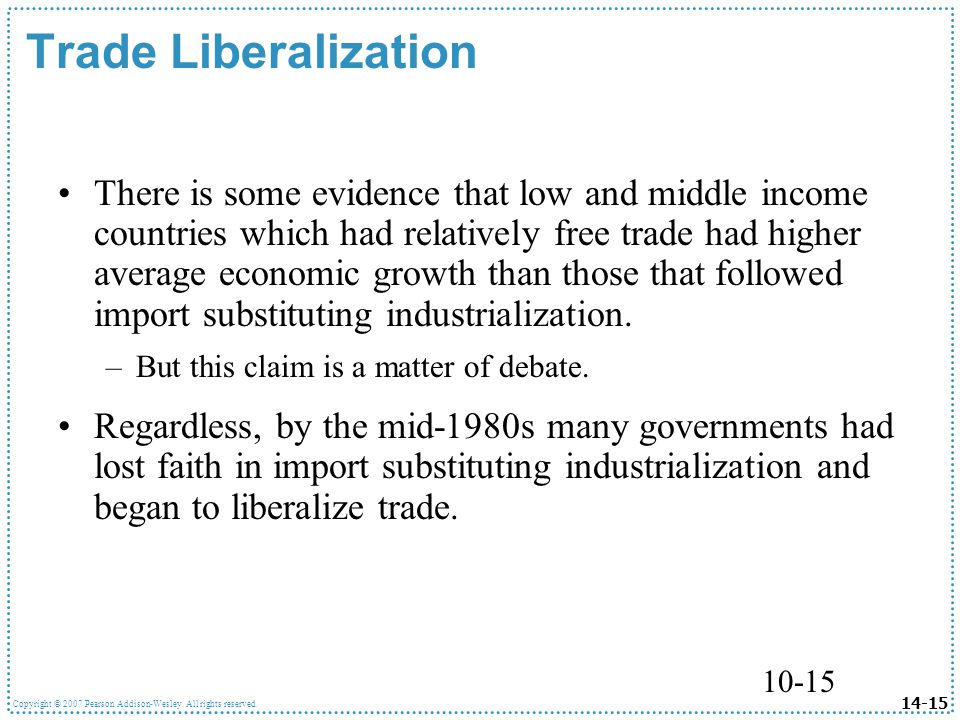 economic liberalization in developing countries good Development: negative effects of trade and capital liberalization geneva, 23 nov (chakravarthi raghavan) -- trade liberalization in developing countries have had some modest benefits, but the.