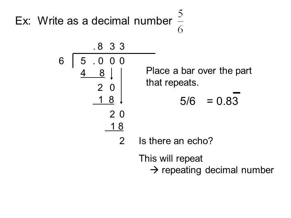 how to write 1 8 as a decimal