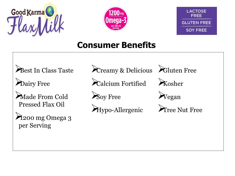Consumer Benefits Best In Class Taste Dairy Free