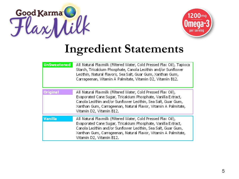 Ingredient Statements