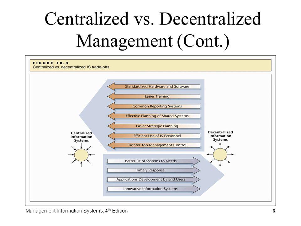 Centralized vs. Decentralized Management (Cont.)