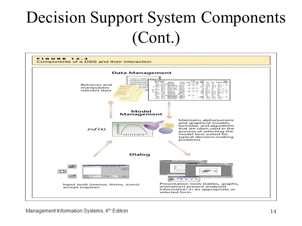 Decision Support System Components (Cont.)
