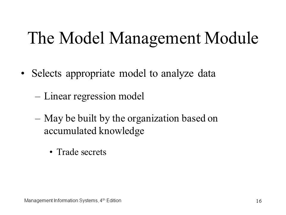 The Model Management Module