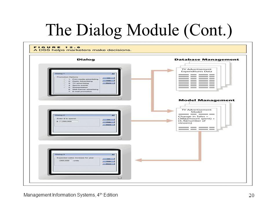 The Dialog Module (Cont.)