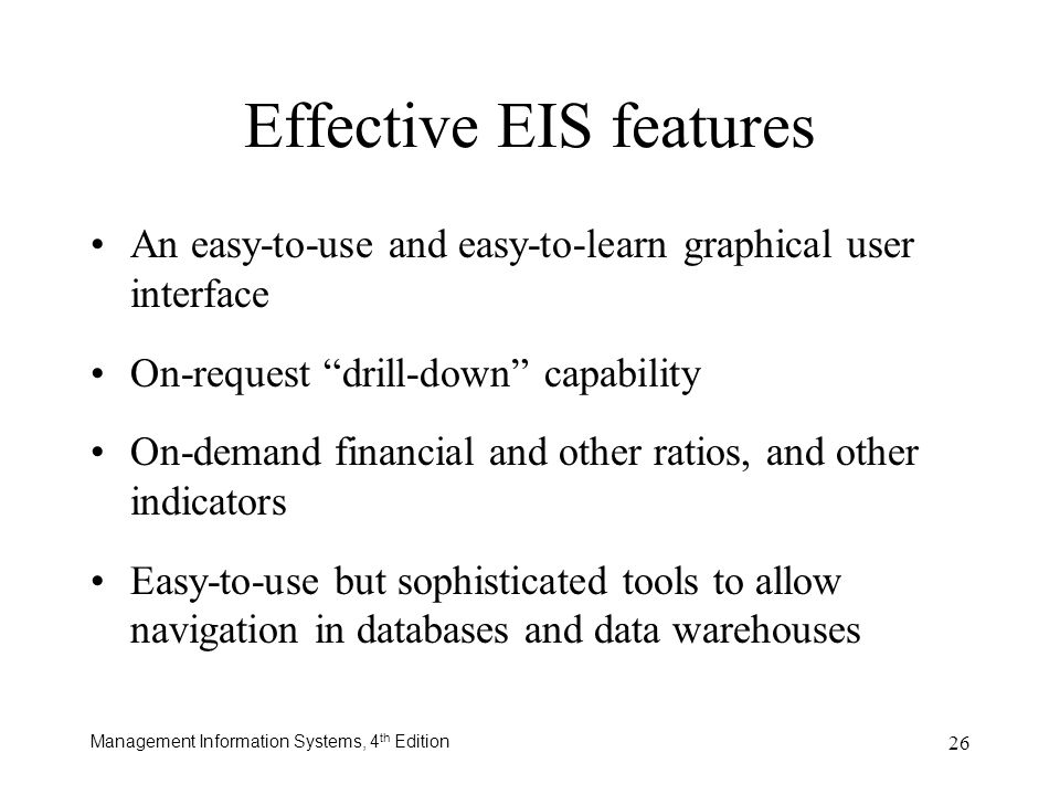 Effective EIS features