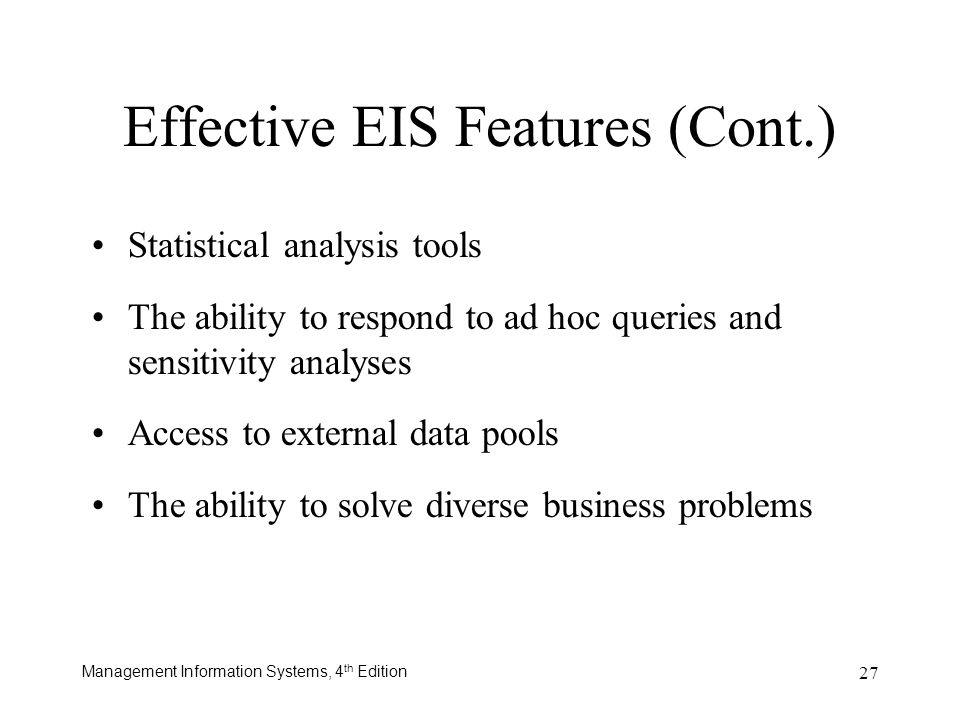 Effective EIS Features (Cont.)