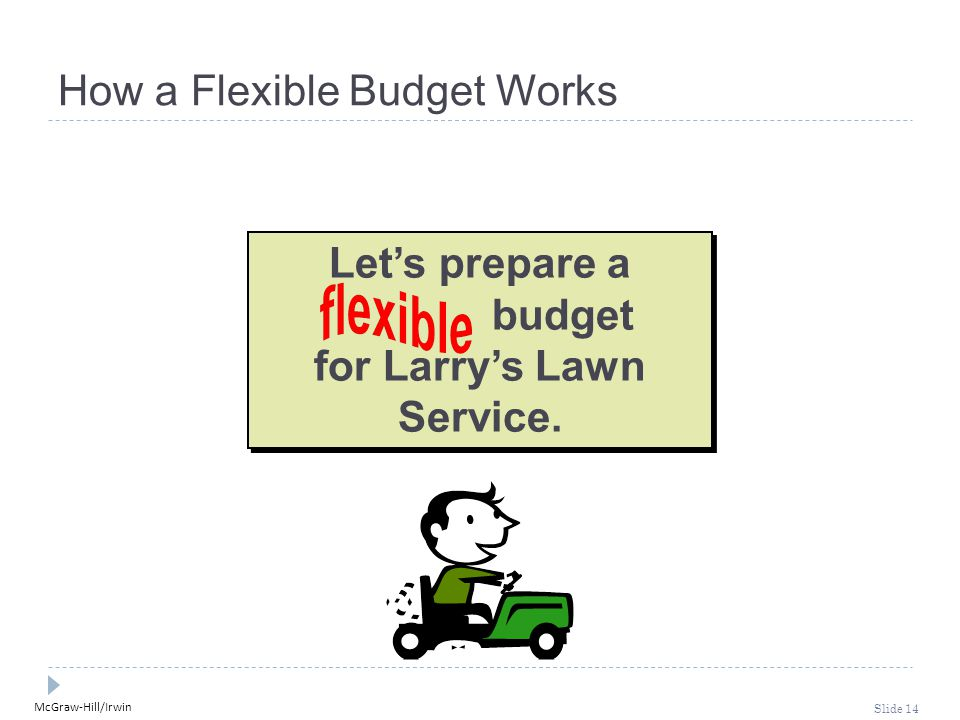 How a Flexible Budget Works
