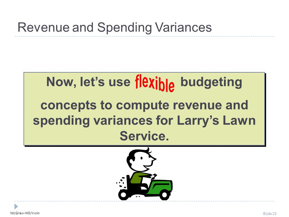 Revenue and Spending Variances