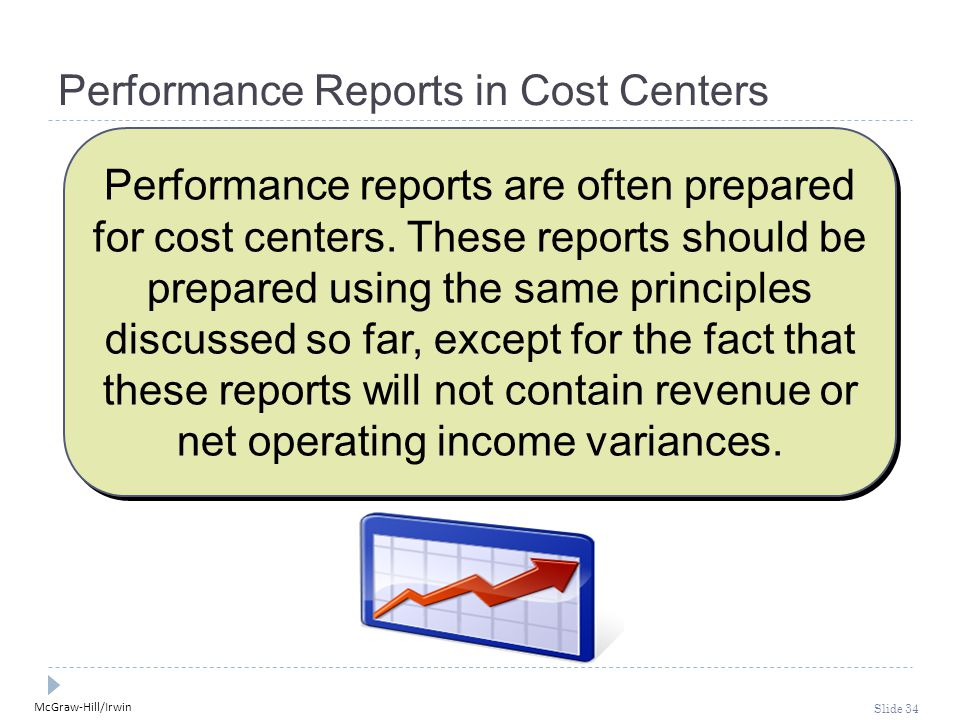 Performance Reports in Cost Centers