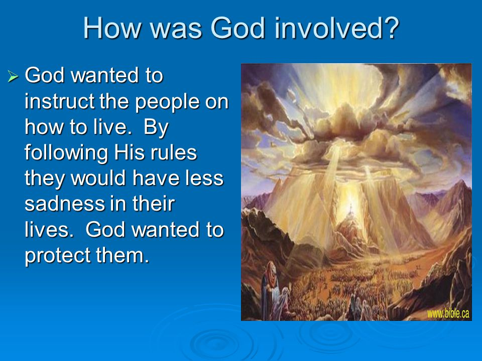 How was God involved