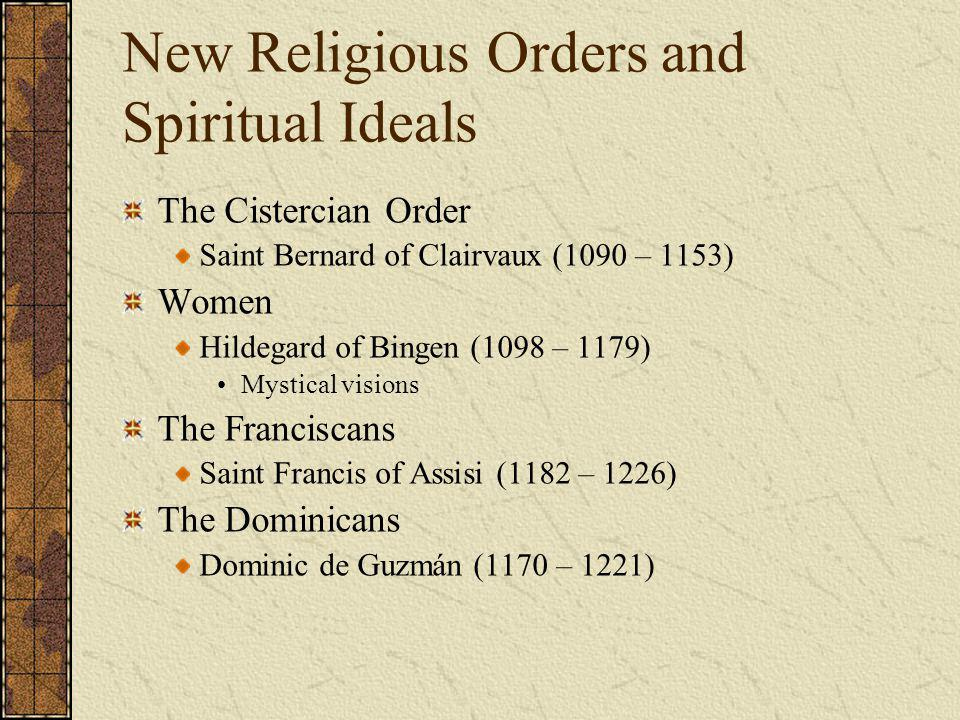 New Religious Orders and Spiritual Ideals