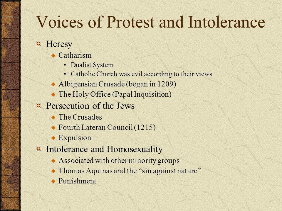 Voices of Protest and Intolerance
