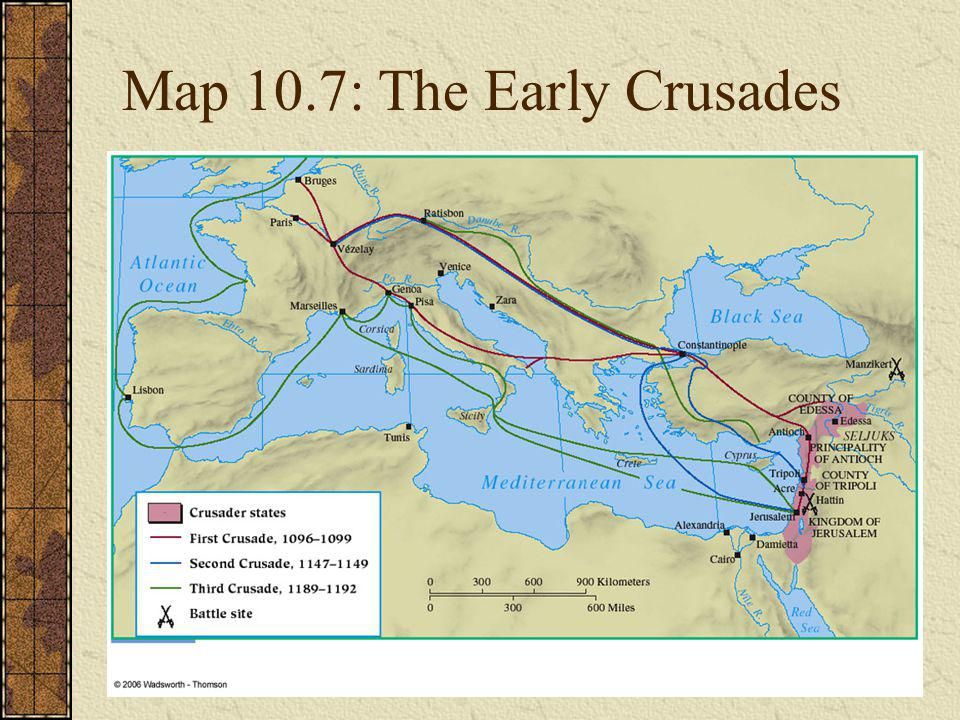 Map 10.7: The Early Crusades