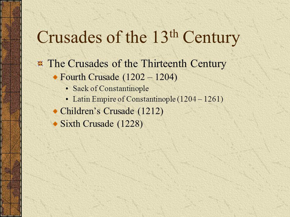 Crusades of the 13th Century