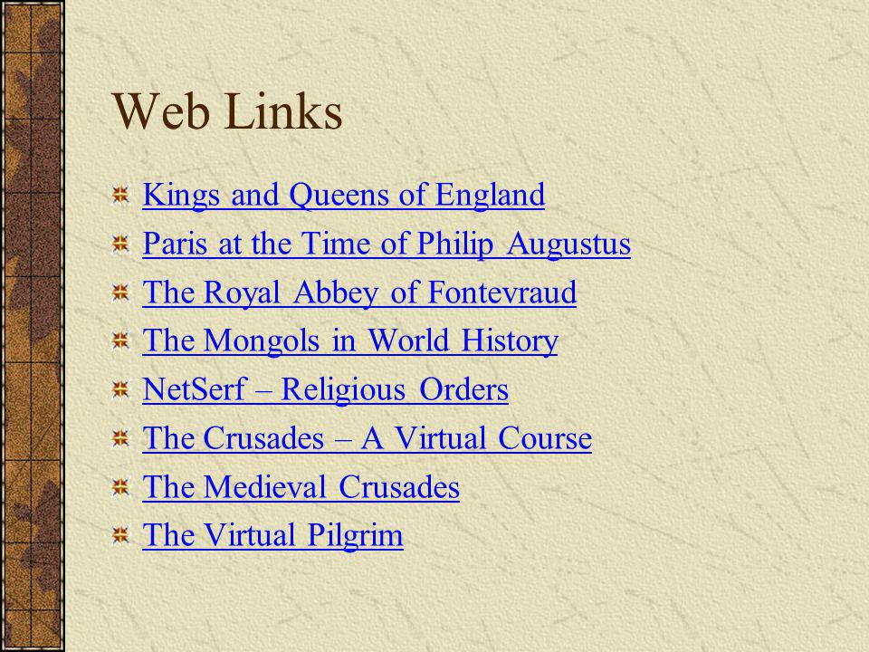 Web Links Kings and Queens of England