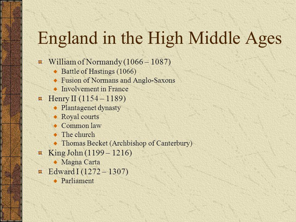 England in the High Middle Ages
