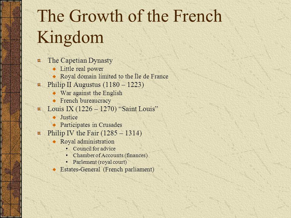 The Growth of the French Kingdom