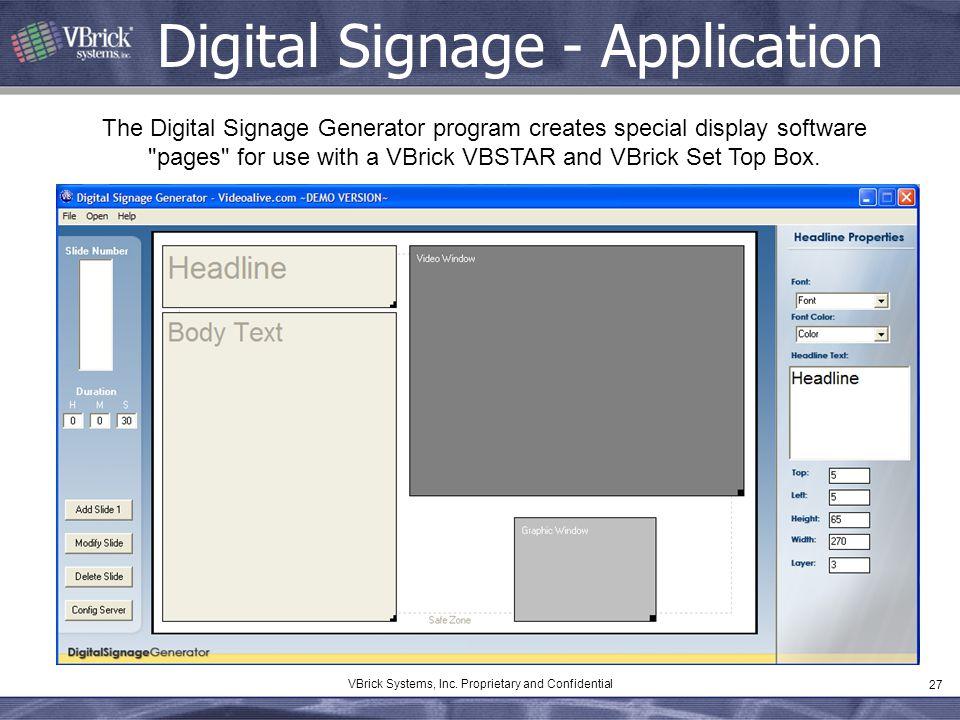 Digital Signage - Application