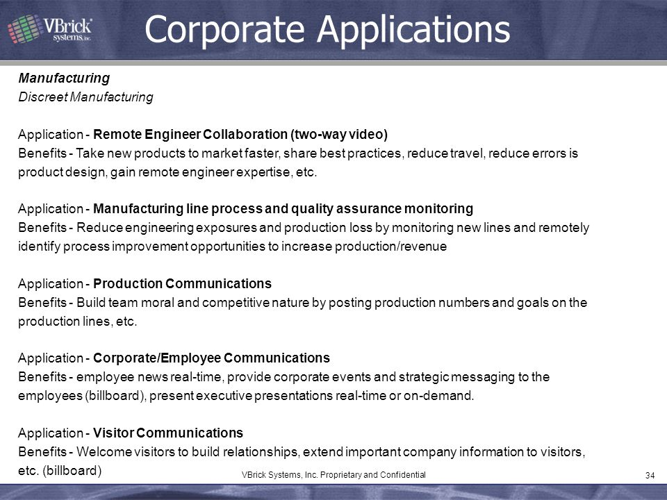 Corporate Applications
