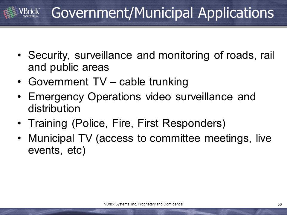 Government/Municipal Applications