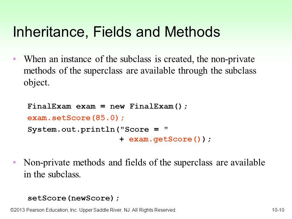 Inheritance, Fields and Methods