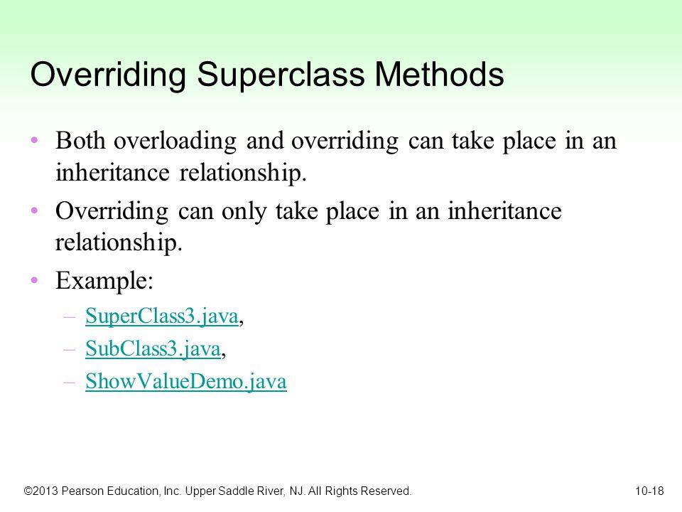 Overriding Superclass Methods