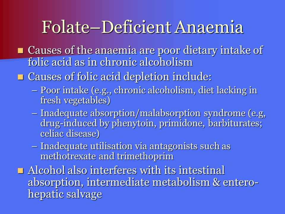 Folate–Deficient Anaemia