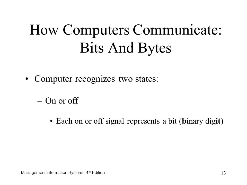 How Computers Communicate: Bits And Bytes