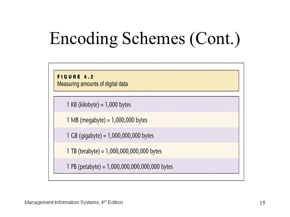 Encoding Schemes (Cont.)
