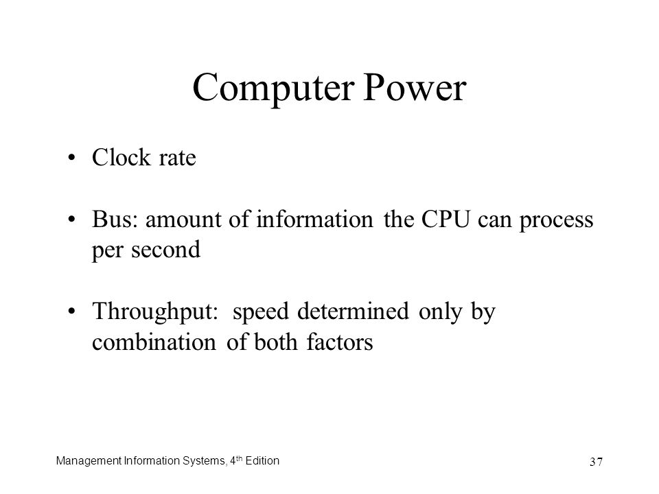 Computer Power Clock rate