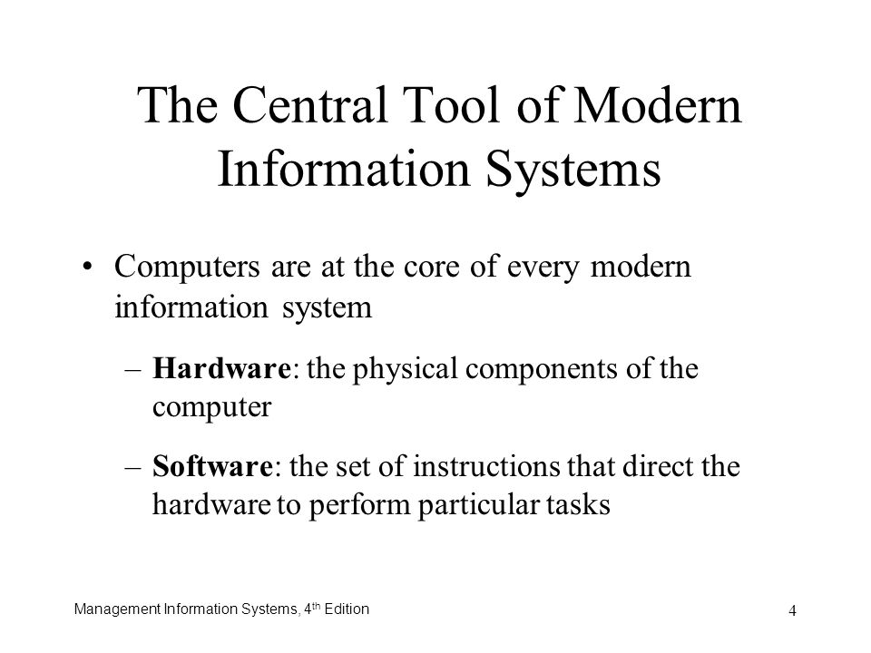 The Central Tool of Modern Information Systems