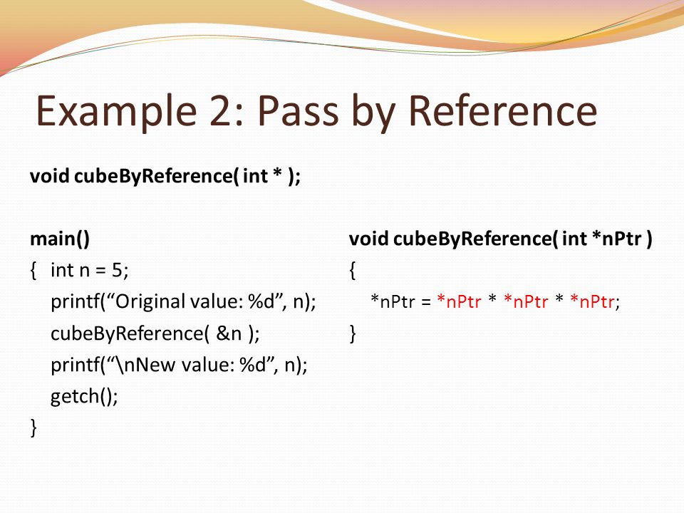 Example 2: Pass by Reference