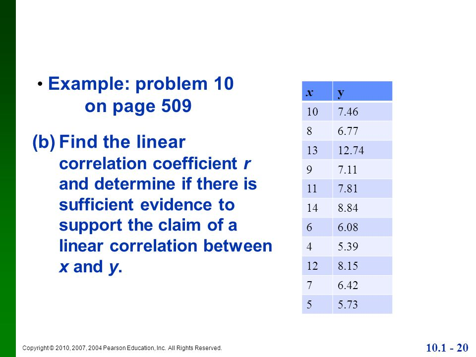 Example: problem 10 on page 509