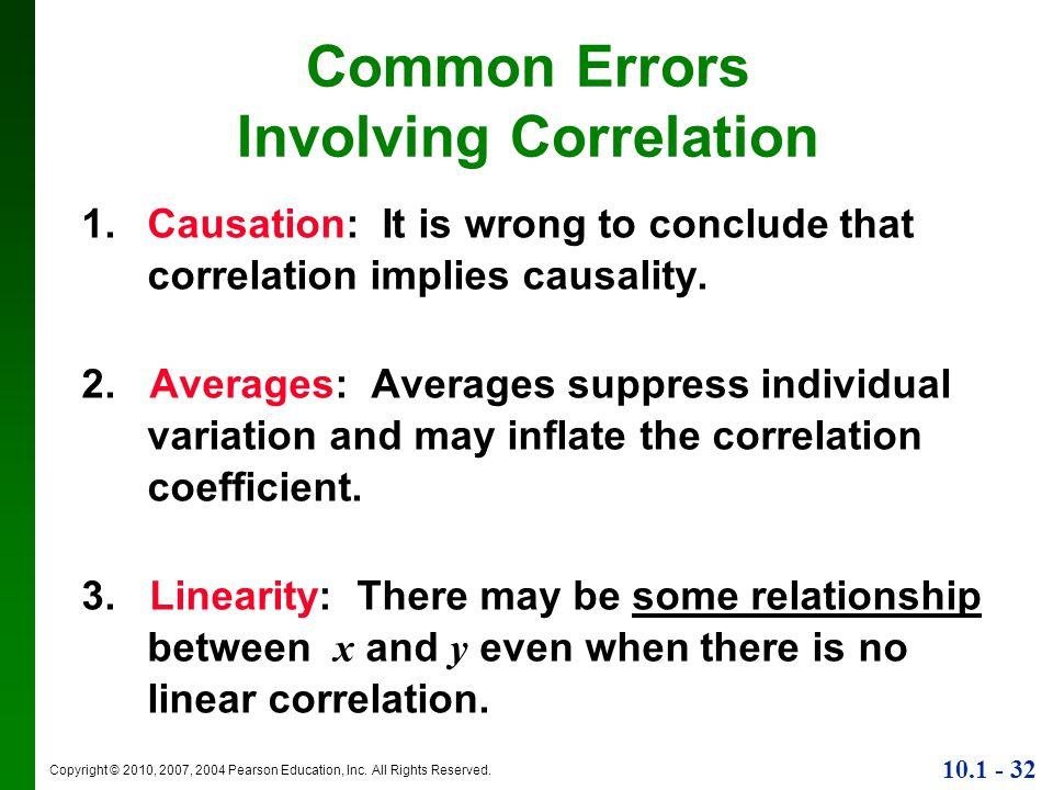 Common Errors Involving Correlation