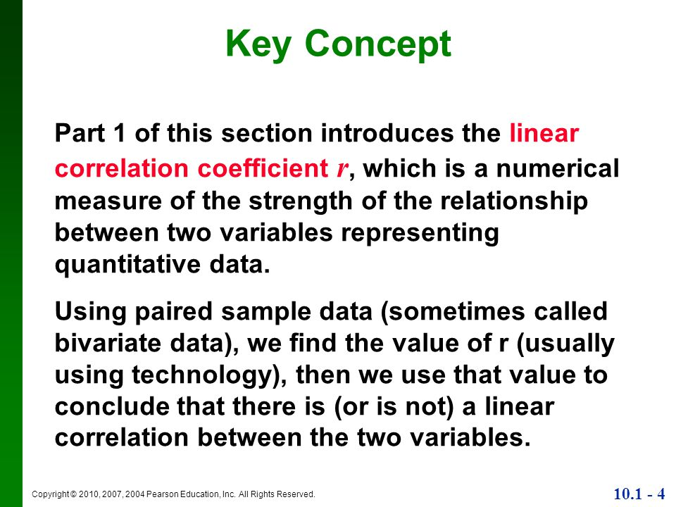 the relationship between two variables in data is called