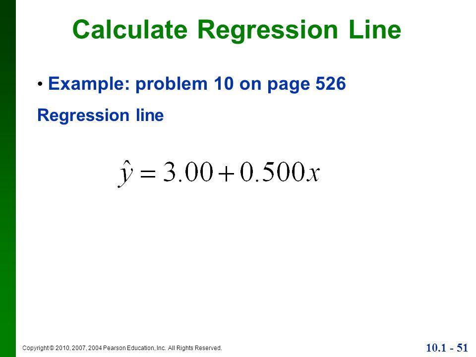 Calculate Regression Line
