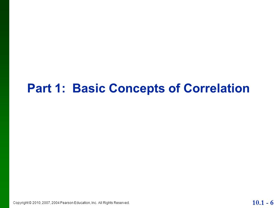 Part 1: Basic Concepts of Correlation