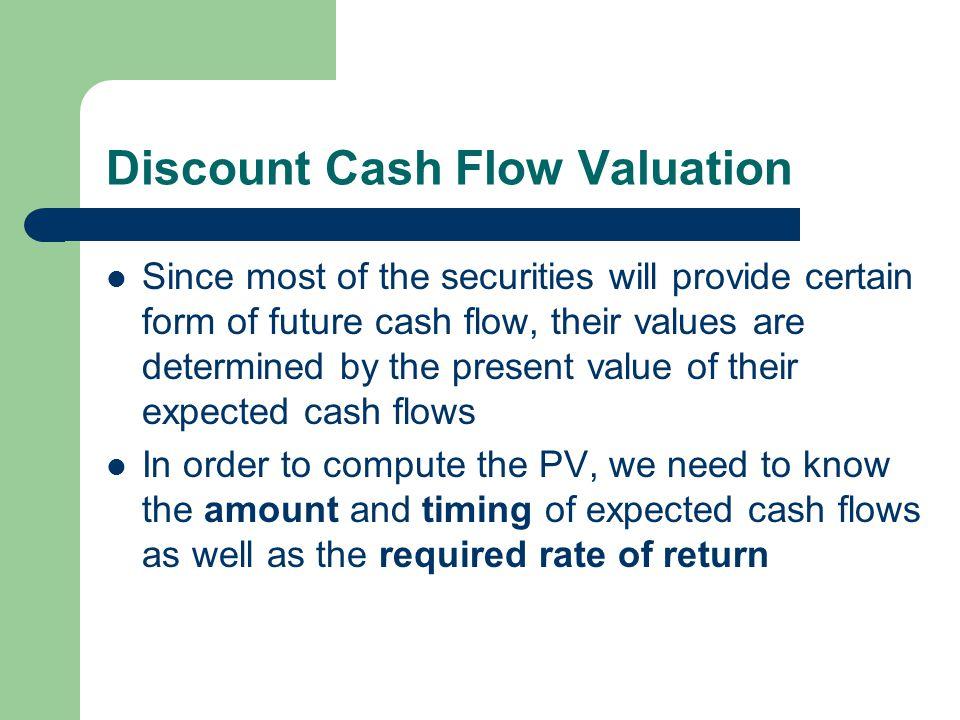 Discount Cash Flow Valuation